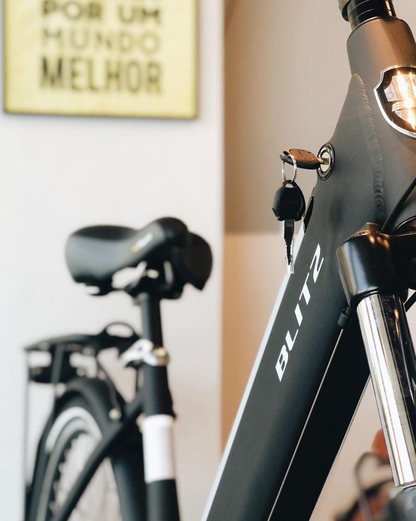 Detalhe do quadro do modelo Soho, bicicleta elétrica da BLITZ
